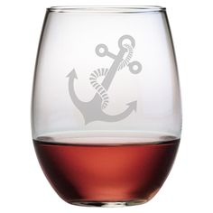 Stemless wine glass with hand-etched owl detail. Product: Set of 4 stemless wine glassesConstruction Material: GlassColor: ClearFeatures: Made in the USA Ounces each Dimensions: H x Diameter eachCleaning and Care: Dishwasher safe Stemless Wine Glasses, Champagne Glasses, Owl Always Love You, My Love, Wine Glass Set, Wise Owl, In Vino Veritas, Country Cooking, Oui Oui