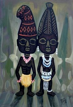 Ibeji by Tijay Ifa Religion, Africa Art, Fantasy Illustration, Little Star, Black Art, Mythology, Character Design, History, Artist