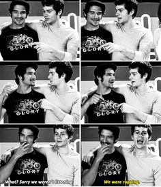 Tyler Posey and Dylan O´Brien
