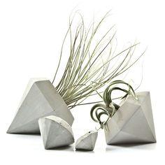 Concrete Diamond Planter for Air Plants by PASiNGA