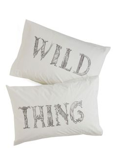 Beyond Your Wildest Dreams Pillowcase Set. Take a nap on the wild side with these uniquely illustrated pillowcases. #white #modcloth