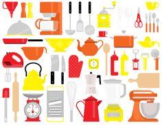 Pattern kitchen by Aline Houdé-Diebolt, via Behance