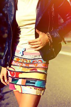 What Anna Wears? Custo Barcelona Skirt.