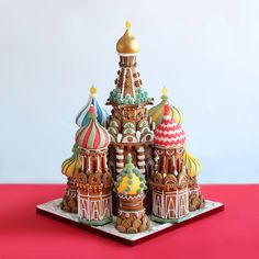 House of Kuchen – Lebkuchen Kathedrale St. Basil, MoskauThe Gingerbread St. Basil Cathedral, Moscow