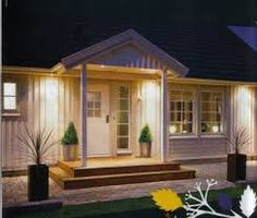 Good size but too boxy Open Plan Apartment, Outdoor Wall Lighting, Outdoor Decor, Front Stairs, Front Entrances, Facade House, Outdoor Landscaping, Architecture Design, Villa