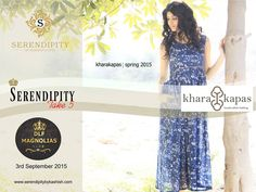 #Serendipity #Take5 presents exclusive KharaKapas Spring Collection at DLF Magnolias Club on 3rd September 2015.