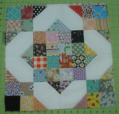 The perfect block to use up all those scraps! :)