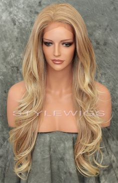 L. Blonde Mix Extra Long Heat OK Lace Front Wavy Synthetic Wig Kim SAKI 27/613 | Health & Beauty, Hair Care & Styling, Hair Extensions & Wigs | eBay!