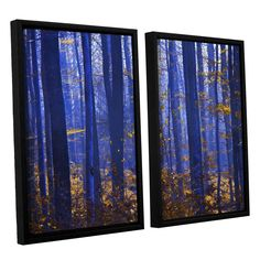 Blue Forest by Lindsey Janich 2 Piece Floater Framed Canvas Set