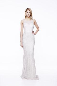 Regal Long in White #eileenkirby #beading #sequins #mermaid #gowns #prom #blacktie #eveningwear