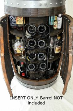 Wine Barrel Whiskey Barrel Liquor Cabinet Custom Rack Insert For A Diy Whiskey…
