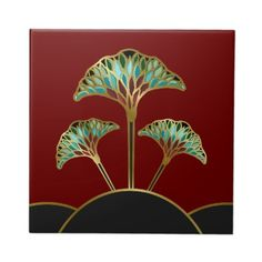 art_deco_ginkgo_leaves_decorative_tile-r03ca63b5bc864c6bb1957aad6ffad04d_agtbm_400.jpg (400×400)