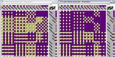 double weave   2 color blocks   4-shaft, 8-treadle