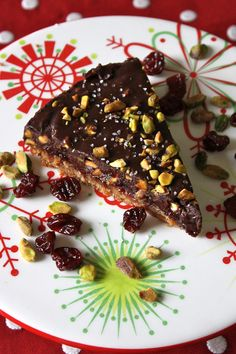 Pistachio, Cherry and Chocolate Tart Submitted by: Vegenista