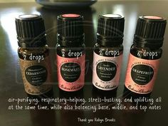 Air purifying, respiratory helping and uplifting diffuser blend: cedarwood, rosemary, Spike lavender, grapefruit essential oils Edens Garden Oils, Edens Garden Essential Oils, Essential Oils For Headaches, Essential Oils Cleaning, Essential Oil Diffuser Blends, Doterra Essential Oils, Home Design, Grapefruit Essential Oil, Aromatherapy Oils