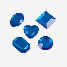 Adhesive Jewels - Blue - OrientalTrading.com