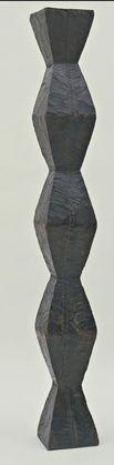 Constantin Brancusi, Endless Column, version I, Oak, 80 x 9 x 9 in. The Museum of Modern Art. Modern Sculpture, Abstract Sculpture, Sculpture Art, Totems, Brancusi Sculpture, Constantin Brancusi, Historical Art, Art Moderne, Land Art