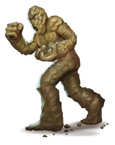 Golem, Clay (from the D&D fifth edition Monster Manual). Art by Conceptopolis.