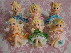 Fairy Dolls Cupcake Toppers by mimicafe Union http://web.me.com/mimicafeunion