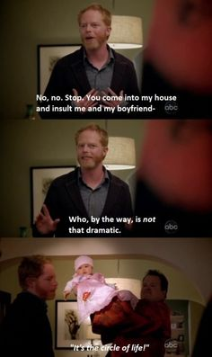 "When Cam had perfect timing. | 21 ""Modern Family"" Moments That'll Make You Laugh Every Time"