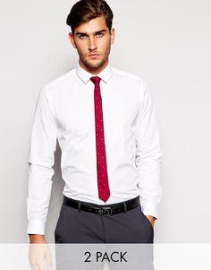 ASOS+Smart+Shirt+and+Polka+Dot+Tie+Set+SAVE+20%
