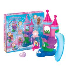 Taking a bath is more fun with this Barbie Splash N Slide Playset. This mermaids playground has a swing and slide and it easily attaches to the bath wall with s Mattel Barbie, Swing And Slide, Mermaid Dolls, Best Kids Toys, New Toys, Games For Kids, Cool Toys, More Fun, Little Girls