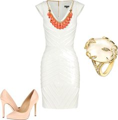 Love the dress not wild about the accessories