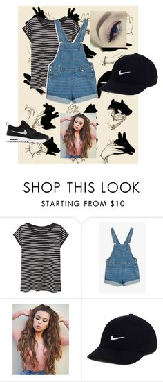 """""""B&W"""" by summer-anderson-i on Polyvore featuring GE, MANGO, Monki and NIKE"""
