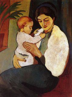 August Macke(1887ー1914)「Madre y el niño」