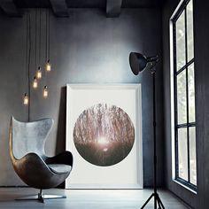 Arte moderna nature inspirational wall art forest black