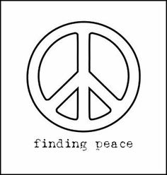 Peace Sign 24 Black White Line Art Christmas Xmas Peace on Earth . Sign Stencils, Free Stencils, Stencil Templates, Peace Sign Images, Peace Sign Art, Peace Signs, Hippie Peace, Hippie Art, Peace Sign Drawing