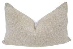European Natural Nubby Linen Pillow