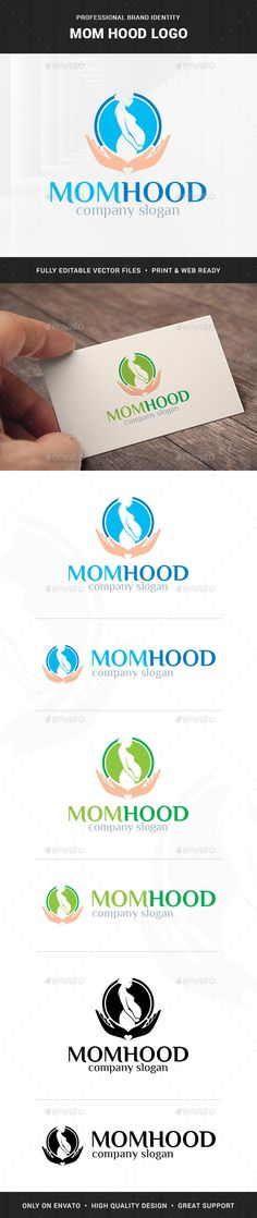 Mom Hood Logo Template