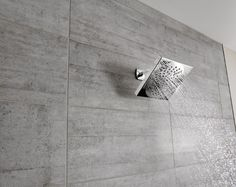 Go from a spa-like rainshower to a more focused rinse in the flip of a switch, with the Velocity showerhead.
