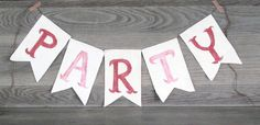 PARTY Banner, Garland, Photo Prop, Party Decor www.letterkay.etsy.com - Letter Kay - #letterkay $18