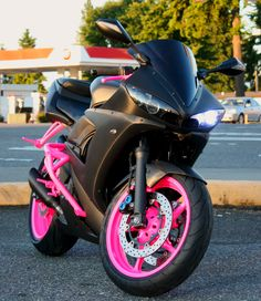 Yamaha R6 -almost bought one with neon blue instead of pink but I want purple