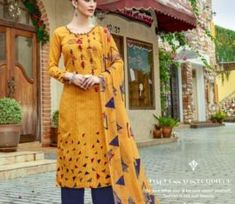 Buy Radhika presents Azara Elee Pure Glass Cotton Print With Self Embroidery Suit 1010 Embroidery Suits, Pure Products, Lace, Casual, Cotton, Collection, Tops, Dresses, Fashion