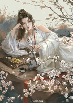 High-rated fantasy books you must read! Flying Lines is a hub of hottest Chinese fantasy novels. And they are all free to read! Chinese Drawings, Chinese Artwork, Art Drawings, Chinese Painting, Art Anime, Anime Art Girl, Manga Art, Fantasy Art Women, Beautiful Fantasy Art