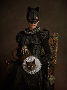 Cat Woman as if se lived in 16th century. SuperHerosFlamands_CatwomanFace_009.jpg