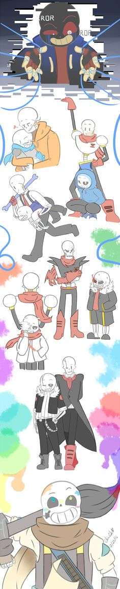 Undertale Sketchdump 2 AU's by inupuppy1412 on DeviantArt