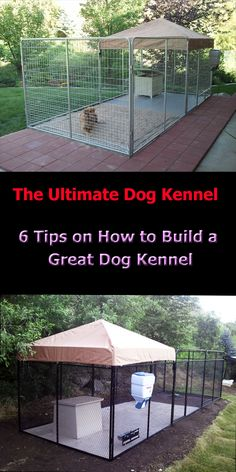 •	AVOID DOG LANDMINES: Dogs like to do their business furthest away from its dog house. Placing the gate close to the dog house helps to prevent you stepping in a doggie landmine.  •	EASY CLEANING: Septic Tank and Flooring: Makes your kennel easy to keep clean. •	EASY FEEDING: Swivel Food Bowl System: These bowls prevent knock over's. •	ESCAPE PROOF: Digging Bars:  keep your dog from digging out. •	ENOUGH ROOM FOR EXERCISE: Longer Kennel:  •	WEATHER PROTECTION: Canvas or Metal Tops:
