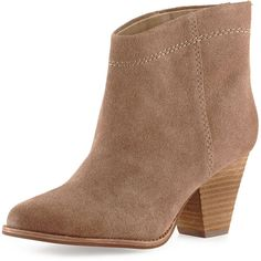 Splendid Ryebrook Suede Block-Heel Bootie ($178) ❤ liked on Polyvore featuring shoes, boots, ankle booties, black, ankle boots, black boots, suede booties, western ankle boots and black suede booties