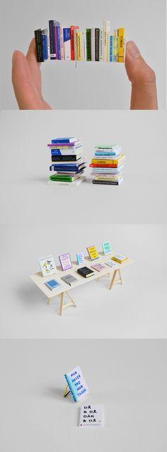 miniature books by artist Henrik Franklin