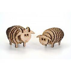 Wooden 3D Puzzle - Sheep, JS Dizains