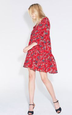 ROBE EVE Mini Robes, Kooples, Cute Dresses, High Neck Dress, Comfy, Chic, Casual, How To Wear, Clothes