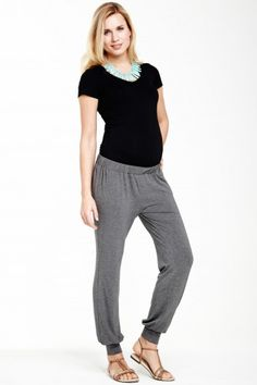Pantalon grossesse en jersey gris Phuket SLACKS & CO