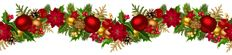 Christmas Decorative Garland PNG Clip Art Image