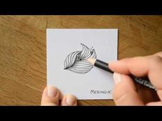 Zentangle® - 10 Muster im Zeitraffer #13 - YouTube