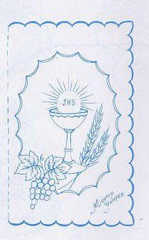 pergamano - Page 8 First Communion Banner, Première Communion, Ribbon Embroidery, Embroidery Patterns, Machine Embroidery, Jesus Book, Parchment Craft, Parchment Design, Catholic Kids