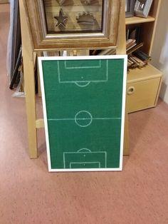 Football field as a notice board.